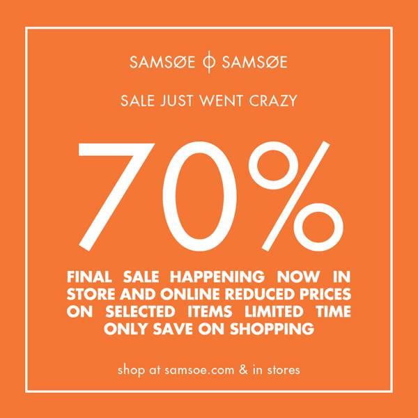 Sale 70 procent