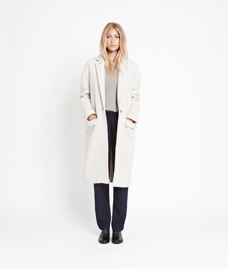hvid jakke
