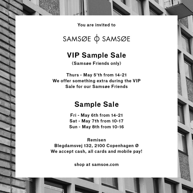 SAMPLE SALE REMISEN APRIL 2016_KVADRAT